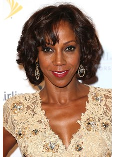Holly Robinson Premier Tailored Amazing Short Curly Lace Front Wig 100% Real Human Hair 10 Inches