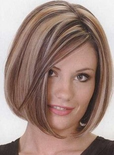 New Fashion Glamor Straight Mixed Color Bob 100% Indian Remy Hair Lace Wig 8 Inches