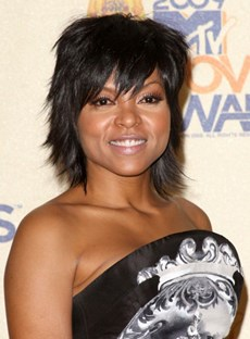 Taraji P Henson Layered Gorgeous Short Straight 100% Real Human Hair 10 Inches