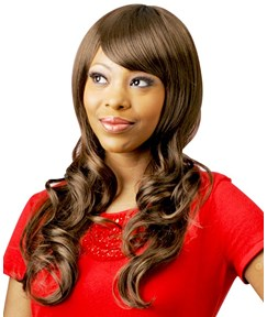 Youthful High Quality Attractive Long Wave Synthetic Hair Wig 18 Inches