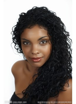 Exquise belle lisse Long Curly Lace Front Wig 18 pouces