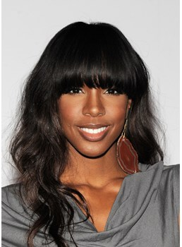 Kelly Rowland Fascinating Sexy Natural Long Wavy Top Quality Synthetic Hair Wig 18 Inches