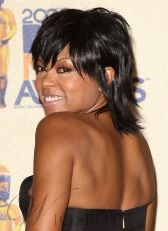 Taraji P Henson Layered Gorgeous Short Straight 100 Real