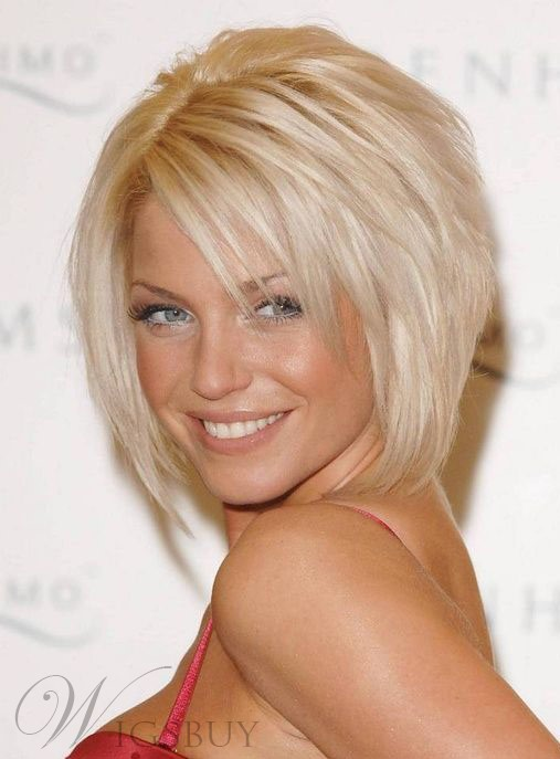 New Trends Soft Top Quality 100% Real Human Hair Short Layered Straight Bob Lace Wig 8 Inches