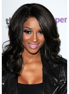Ciara Custom Hairstyle Fluffy Medium Curly Synthetic Hair Lace Front Wig 14 Inches