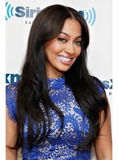 Smooth Carefree Choppy Long Wavy Top Quality Synthetic Hair Lace Front Wig 22 Inches
