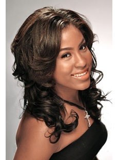 Best Hip Kindly Long Curly Synthetic Hair Lace Front Wig 16 Inches