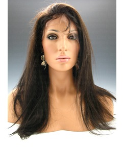Long Straight Glueless Full Lace Wig Human Hair Wigs 20 Inches