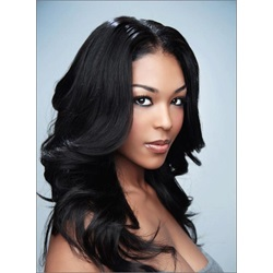Classical Sexy Smooth Long Wavy Lace Front Wig Best Quality Synthetic Hair Wig 18 Inches