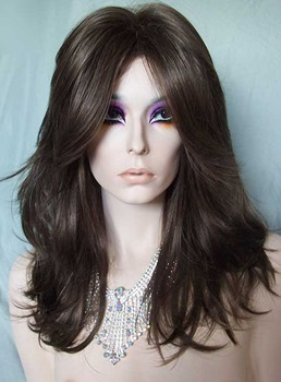 New Arrival Stylish Top Quality Long Layered Loose Wavy Glueless Lace Front Wig 100% Indian Human Hair 16 Inches