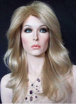 New Hairstyle Glamour Long Layered Loose Wavy Heat Resistant Cheap Lace Front Wig 16 Inches