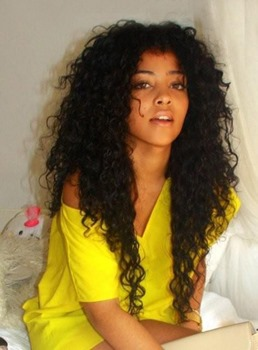 Long Curly Synthetic Hair Lace Front Wigs for Black Women