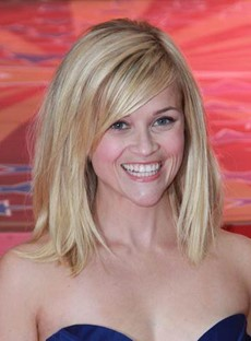 Reese Witherspoon Shoulder Length Bob Lace Front Wig 100% Indian Human Hair 12 Inches