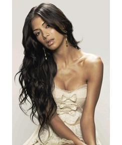Pretty Graceful Long Loose Wavy Lace Front Wig Synthetic Hair Wig 26 Inches