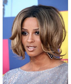 Ciara Simple Pretty Two-Tone Look Short Wavy Lace Front Wig 100% Real Human Hair 12 Inches