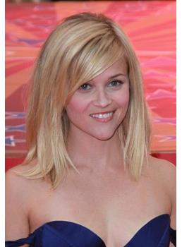 Reese Witherspoon spalla lunghezza Bob pizzo frontale parrucca 100% capelli umani indiani 12 pollici