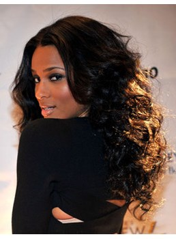 Ciara Best Stylish Kindly Long Curly Top Quality Synthetic Hair Lace Front Wig 22 Inches