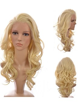 Top Quality Gorgeous Custom Long Body Curly 100% Human Hair 18 Inches Glueless Lace Front Wig