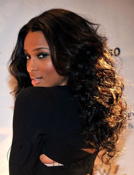 Ciara Long Curly Synthetic Hair Lace Front Wigs