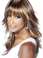 Amazing Stylish Fascinating Beverly Johnson's Medium Straight Perfect Wig 100% Real Human Hair 16 Inches