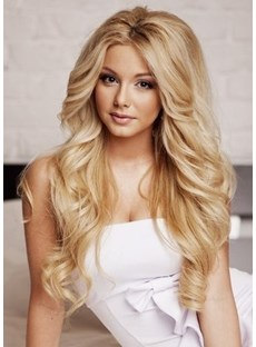Youthful Fascinating Sexy Long Curly Lace Front Wig 100% Real Human Hair 22 Inches