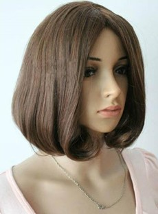 Fashion Medium Straight Bob Hairstyle Heat Resistant Synthetic Wig 10 Inches