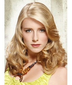 Noble Long Body Curly Human Hair Silk Top Full Lace Wigs