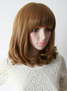 Top Quality Hot Sale Heat Resistant Synthetic Wig 14 Inches