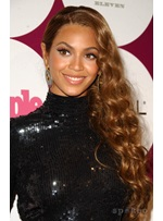 Beyonce Elegant Loose Luxury Long Curly Lace Front Wig 100% Real Human Hair 22 Inches