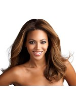 Polished Natural Choppy Beyonce Medium Wavy Lace Front Wig 100% Real Human Hair 16 Inches