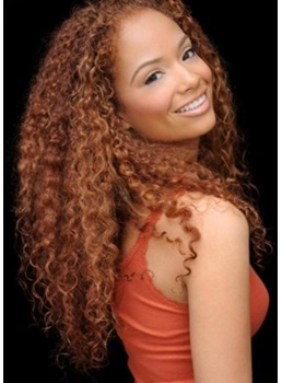 Elegant Inexpensive Long Curly Full Lace Wig 100% Real Human Hair 24 Inches