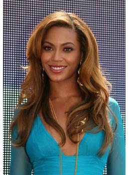 Fascinating Handmade Beyonce Sexy Long Wavy Lace Front Wig 100% Real Human Hair 20 Inches