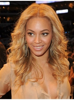 Classical Boutique Graceful Beyonce Lace Front Wig Long Wavy 100% Real Human Hair 18 Inches