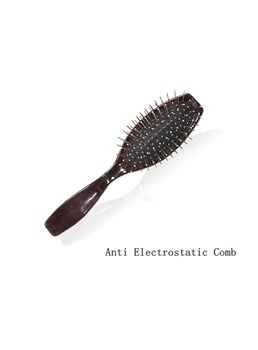Top Quality Anti Electrostatic Wooden Handle Steel Wig Comb