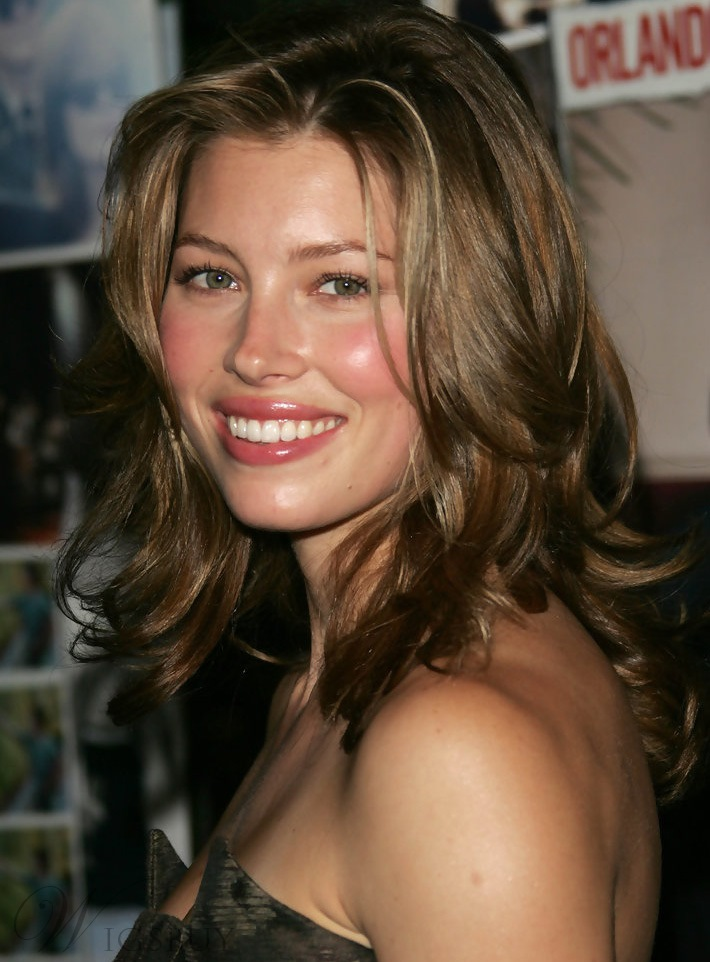 Jessica Biel Hairstyle 14 Inches Lace Front Wigs 14 Inches
