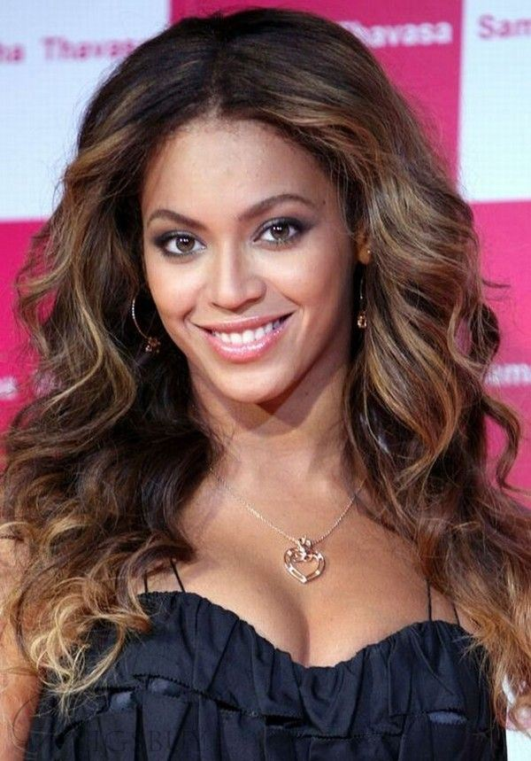 Smooth Premier Fluffy Beyonce Long Wavy Lace Front Wig 100% Real Human Hair 18 Inches