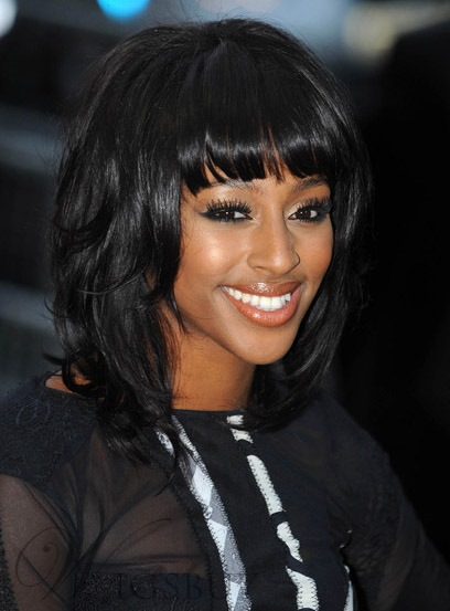 Custom Classy Alexandra Burke Shoulder Length Straight 12 Inches 100% Human Hair Wig