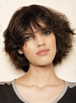 Free Style Fashion 100% Human Hair Short Loose Wavy Full Wig 8 Inches