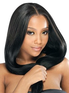 Impressive Graceful Top Quality Custom Long Straight 100% Indian Remy Hair 18 Inches Full Lace Wig