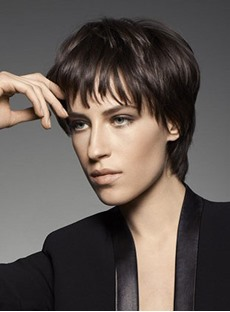 Hot Sale Top Quality Smart Short Layered Straight 100% Human Hair Wig