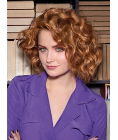 Hot Sale Best Attractive Medium Curly 100% Human Hair Full Lace Wig 10 Inches