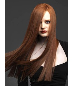Best Soft 100% Human Hair 22 Inches Silky Straight Full Lace Wig