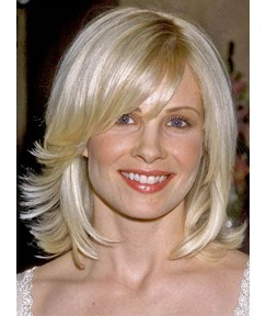 Natural Free Style Medium Loose Wavy Blonde Lace Front Wig 100% Human Hair 12 Inches