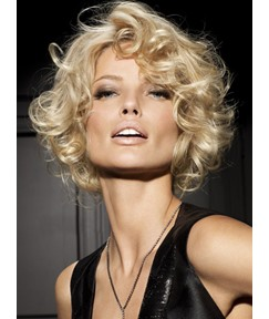 Meticulously Designed Blonde Short Curly Full Lace Wig 100% Human Hair 10 Inches