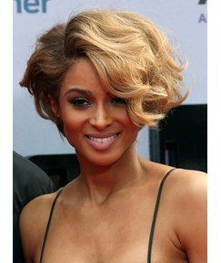 Two-Tone Look Elegante Youthful Short Curly Full Lace Wig 100% Human Hair