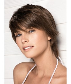 Carefree Stylish Layered Cut Short Straight Remy Human Wig