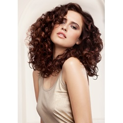 Attractive Impressive Fluffy Long Curly Full Lace Wig 100% Human Hair 18 Inches