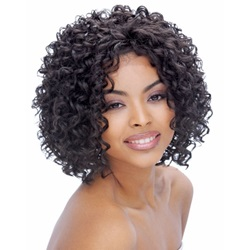 Approachable Attractive Lovely Medium Curly Lace Front Wig 100% Human Hair 14 Inches