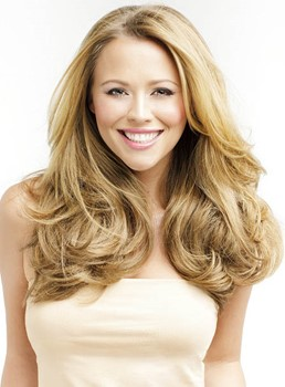 Stylish Tailored Soft Natural Long Loose Wavy Lace Front Wig 100% Human Hair 18 Inches