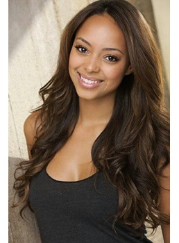 Beautiful Attractive Loose Long Wave Lace Front Wig 100% Human Hair 22 Inches